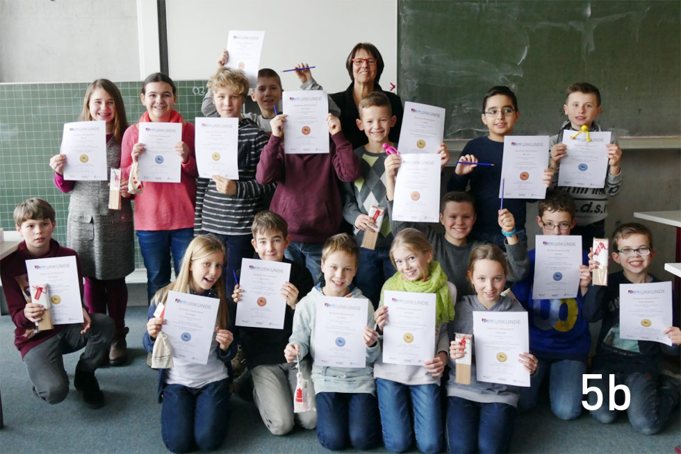 5b bei Mathe im Advent 2016